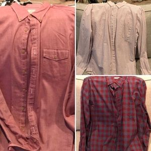 3 like new J. Crew button down shirts